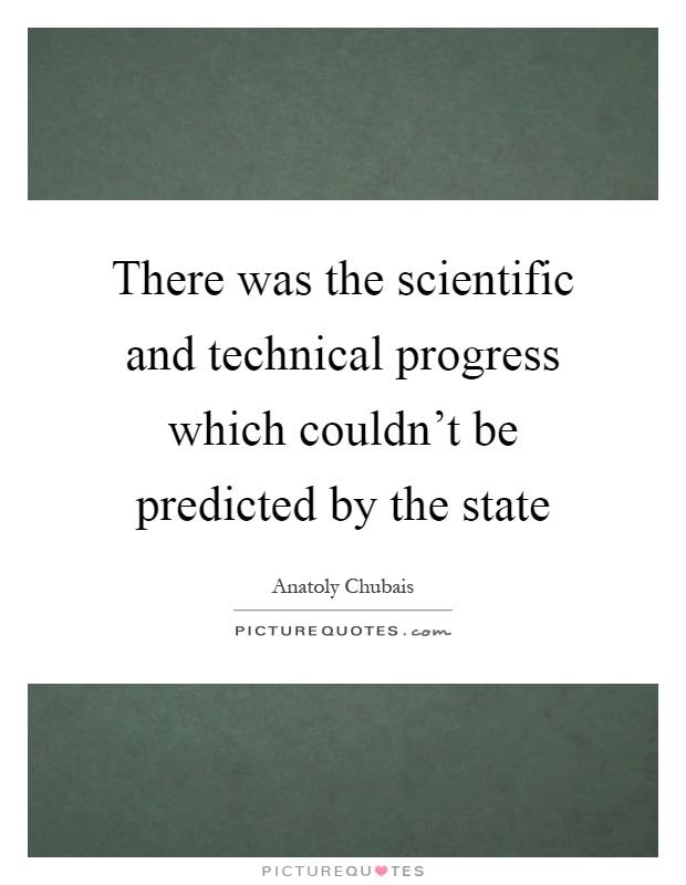scientific and technological progress