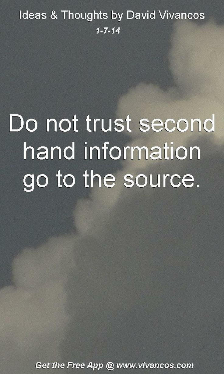 quotes about second hand information 21 quotes