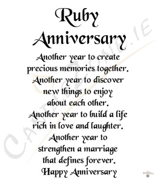 40th Wedding Anniversary Quotes: Quotes About 40th Anniversary (29 Quotes