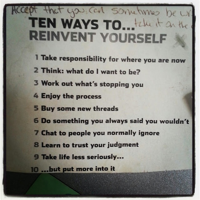 i need to reinvent myself