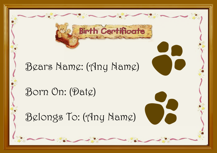 Quotes about birth certificate 91 quotes for Build a bear birth certificates