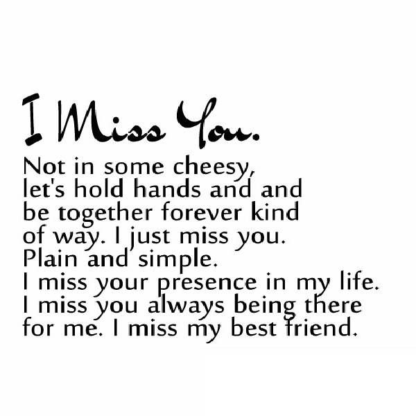 quotes about friendship missing