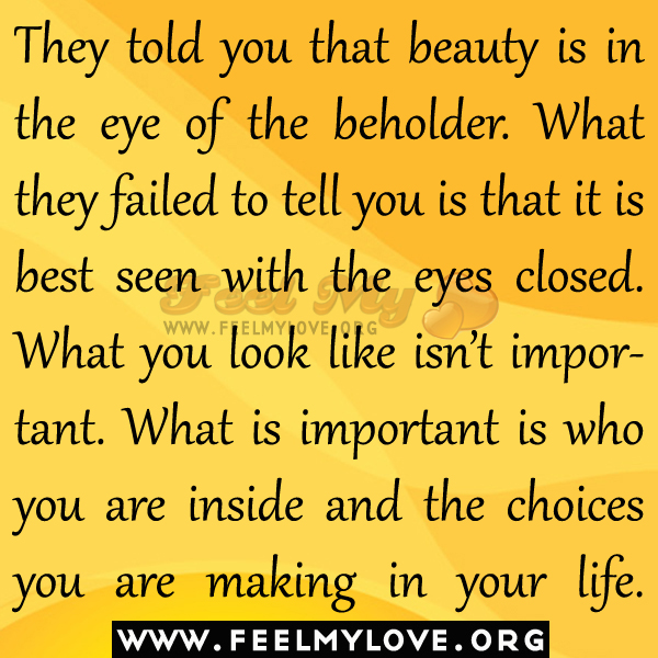 beauty is in the eye of the beholder short essay
