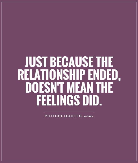 ending an undefined relationship meaning