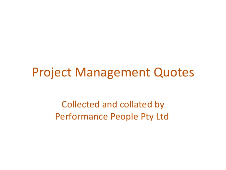 Quotes About Project Manager  Quotes