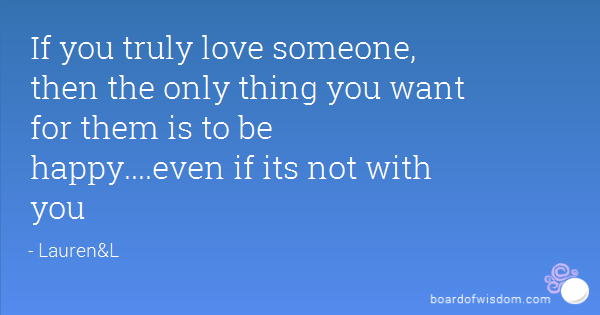 how to be happy for someone you love