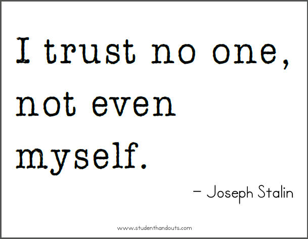 how to trust myself