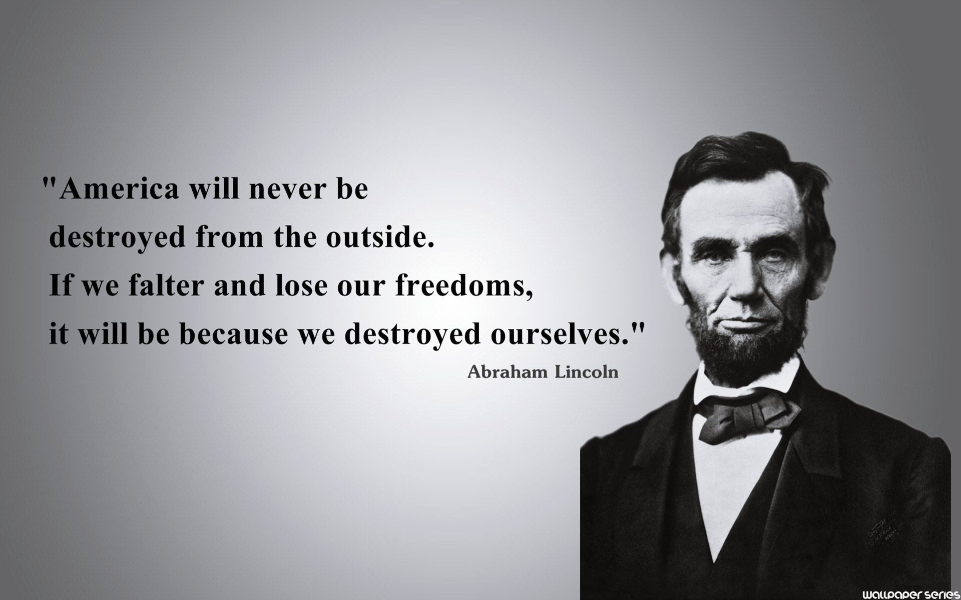 Picture Abraham Lincoln Quote About Enemy: Quotes About Freedom Abraham Lincoln (26 Quotes