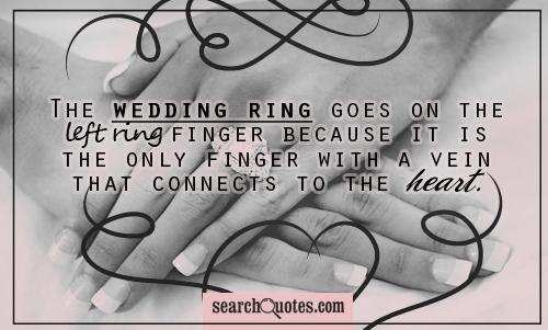Quotes About Wedding Rings 38 Quotes