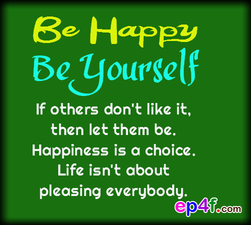 Being yourself quotes