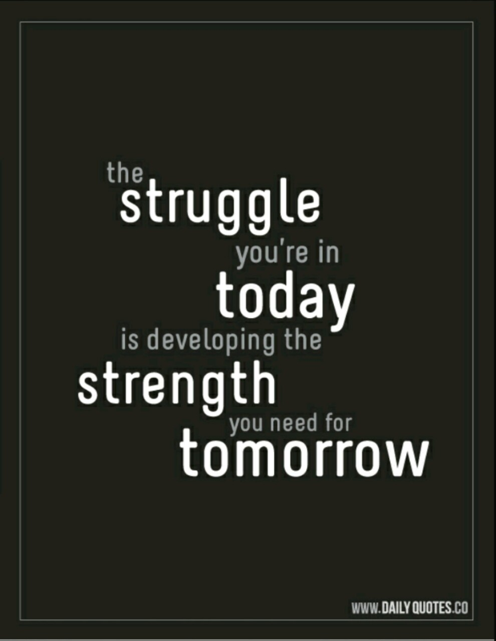 struggle is the key
