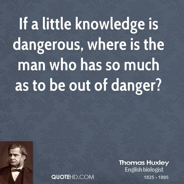 a little knowledge is dangerous essay
