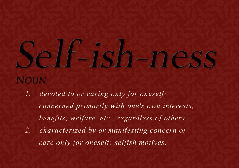Self centeredness definition
