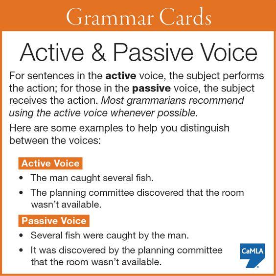 passive and active sentences