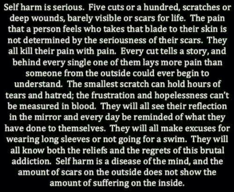 Self harm quotes