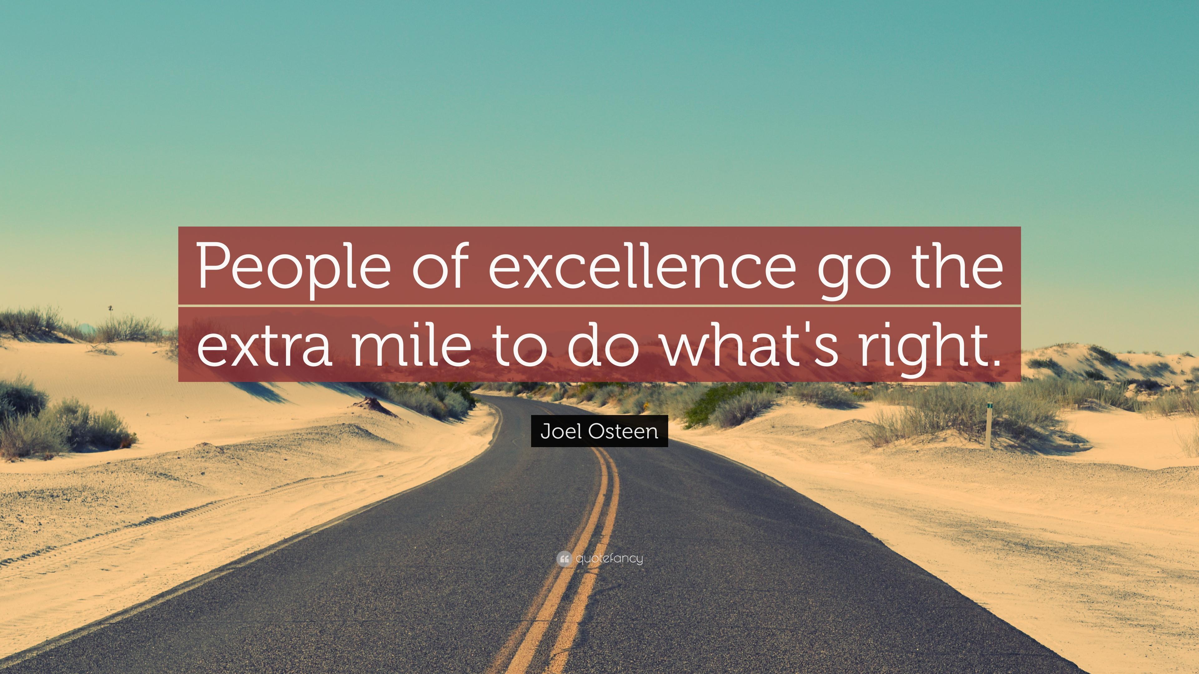go the extra mile essay