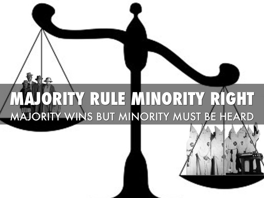 minority and majority rights essay Home essays majority vs minorities majority or minority influence essay this helps in protecting other minority rights and majority rules.