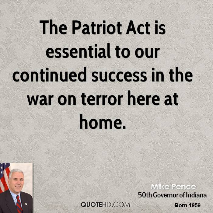 thepatriot act and it s legal 15 years ago george w bush signed the patriot act into law.