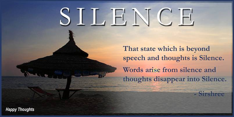 the power of speech and silence The power of silence in normal everyday conversation we use pauses and silence to create distance in our speech when speaking, silence constructs a gap between.