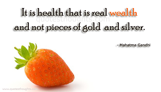 an essay of health is wealth