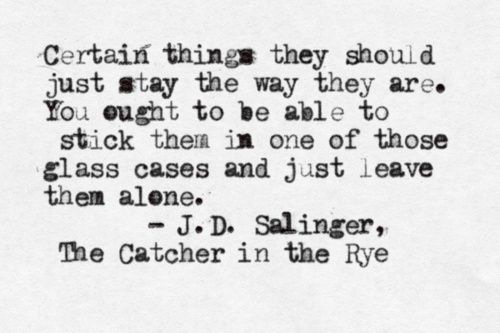 essay catcher rye quotes Gradesaver: the catcher in the rye essay: the etymology and symbolism of characters' names 04/29/2006 11:09 am.