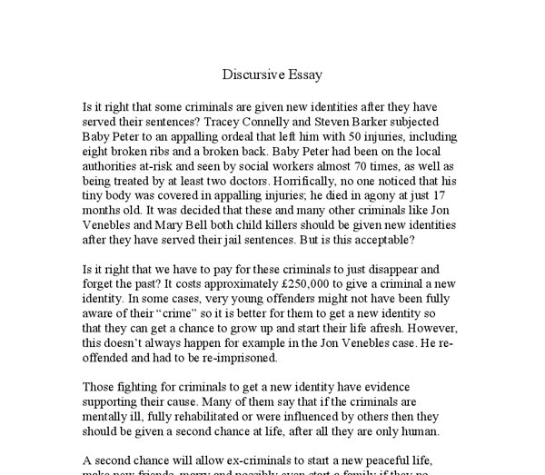 discursive essay introduction