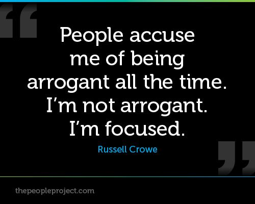 arrogant people