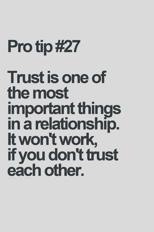 trustworthy relationship definition of single