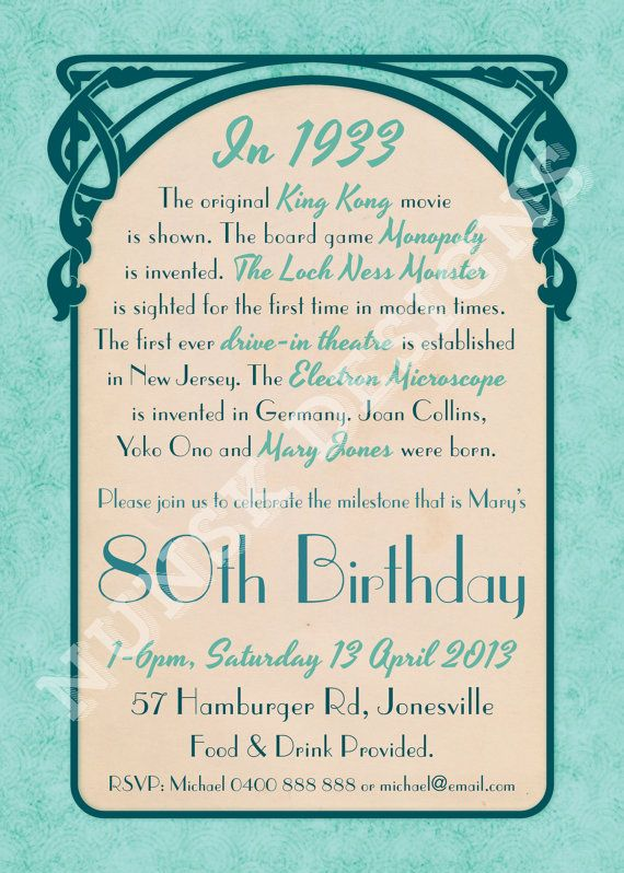 Quotes About Birthday Invitations 60 Quotes Gorgeous Quotes 80th Birthday