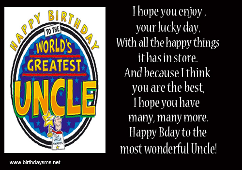 Quotes About Uncle Birthday 12 Quotes