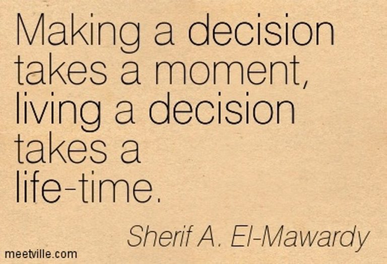 making life decisions This book lays out a proactive approach at tackling any decision that you are faced with if you make better decisions your quality of life will be better.