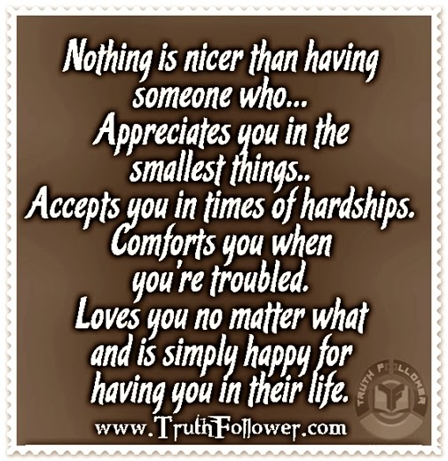 quotes about appreciating someone you love