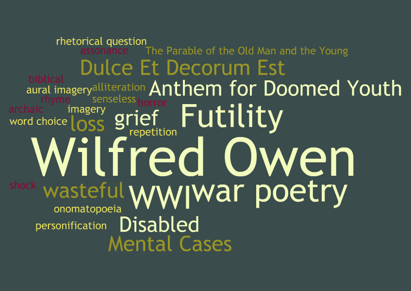 the horrific accounts of world war i in wilfred owens poem dulce et decorum est My account preview preview essay he examines the horrific quality of world war i and transports the reader into wilfred owens poem 'dulce et decorum est.