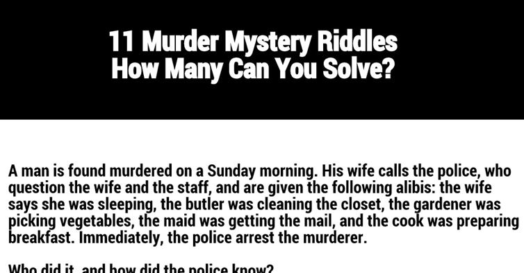 Quotes About Solving Mysteries 45 Quotes