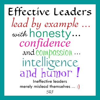 example of ineffective leadership Successful/effective leadership gains respect, trust and loyalty by consistently achieving successful results, while developing effective relationships.