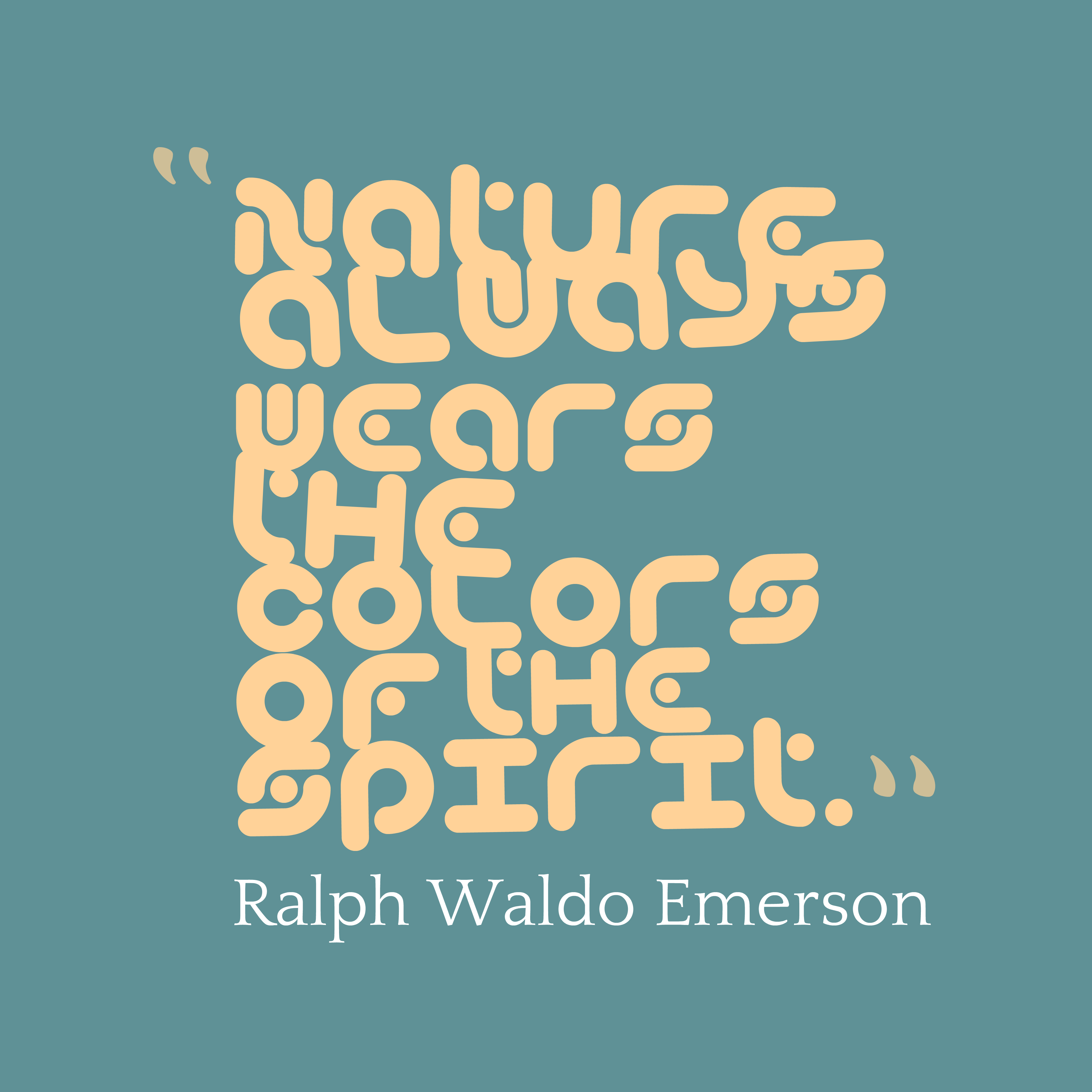 ralph waldo emersons essay nature In self-reliance, philosopher ralph waldo emerson argues that polite society has an adverse effect on one's personal growth self-sufficiency, he writes, gives one the freedom to discover one'strue self and attain true independence.