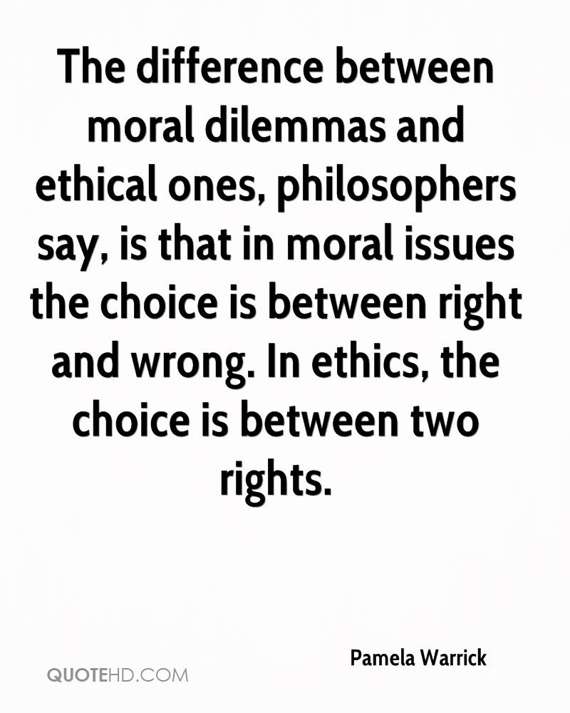 Ethical dilemma right or wrong