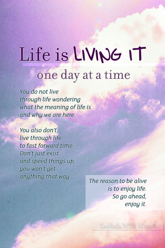 Quotes about Living One Day At A Time (33 quotes)