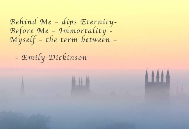 emily dickinsons views on mortality Emily dickinsons life experiences emily leaned toward a man named benjamin in her poetry emily dickinson expresses her views on life death and religion.