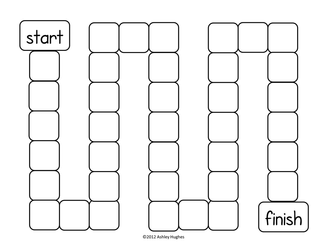 Printable Race Track Game Board Template