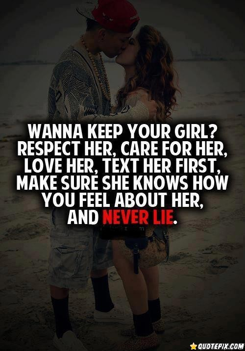 Quotes about Keeping a girlfriend (21 quotes)