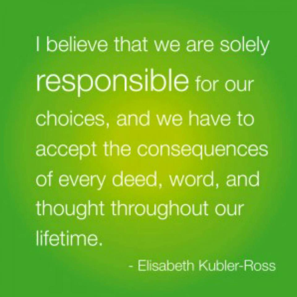 our responsibility in our life essay Responsibility in life responsibilities are something we are born with and they will follow us all of our lives to start with we are all charged with two.