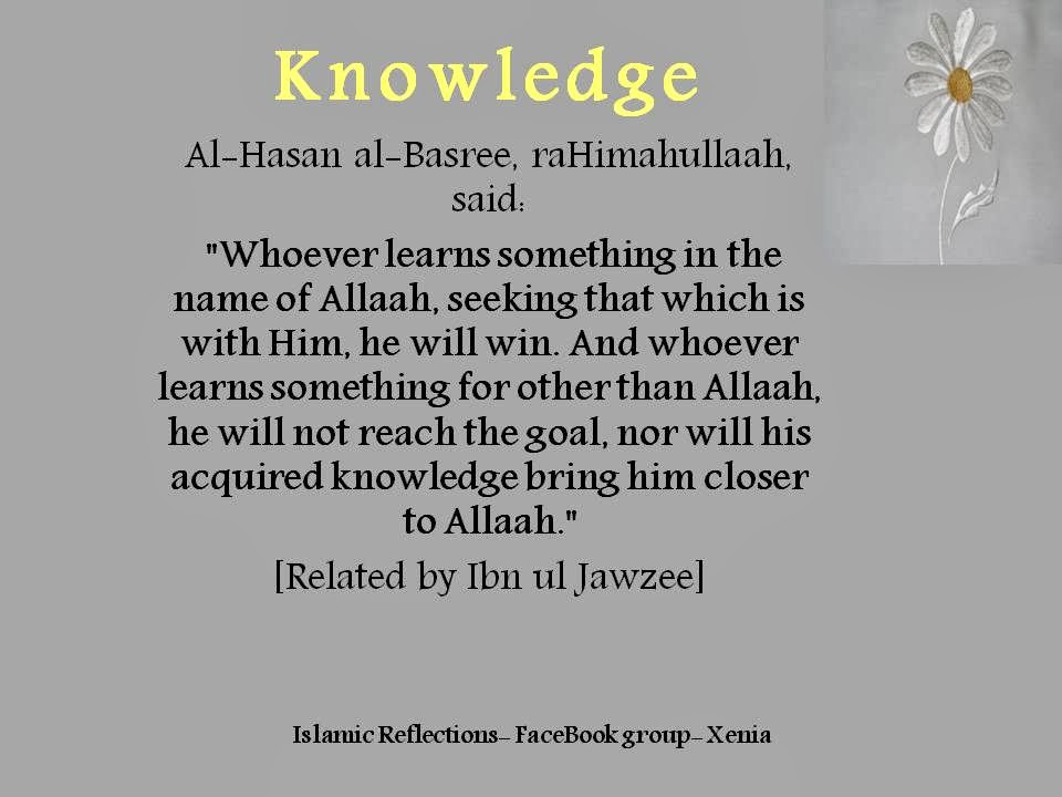 importance of education knowledge in islam The importance of education is immeasurable, boundless and limitless education is a necessary costume that each and every human being must be education plays a vital role in everybody's life, it changes the mindset of a person, it provides a medium of acquiring knowledge, skill, discipline.