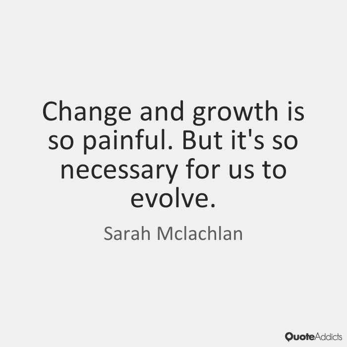 an inspiring story of how change is necessary for growth Do you need a business quotation for your newsletter, business presentation, website, or inspirational posters these change and change management quotes will help you encourage employee motivation, employee engagement, and provide inspiration to your staff, whatever business you work in.