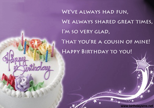 Quotes About Birthday For Cousin 60 Quotes Custom Happy Birthday Cousin Quotes