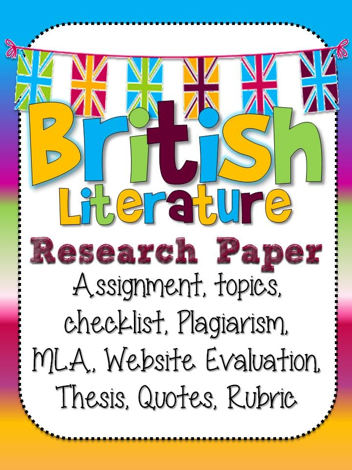 Write my british literature term paper topics