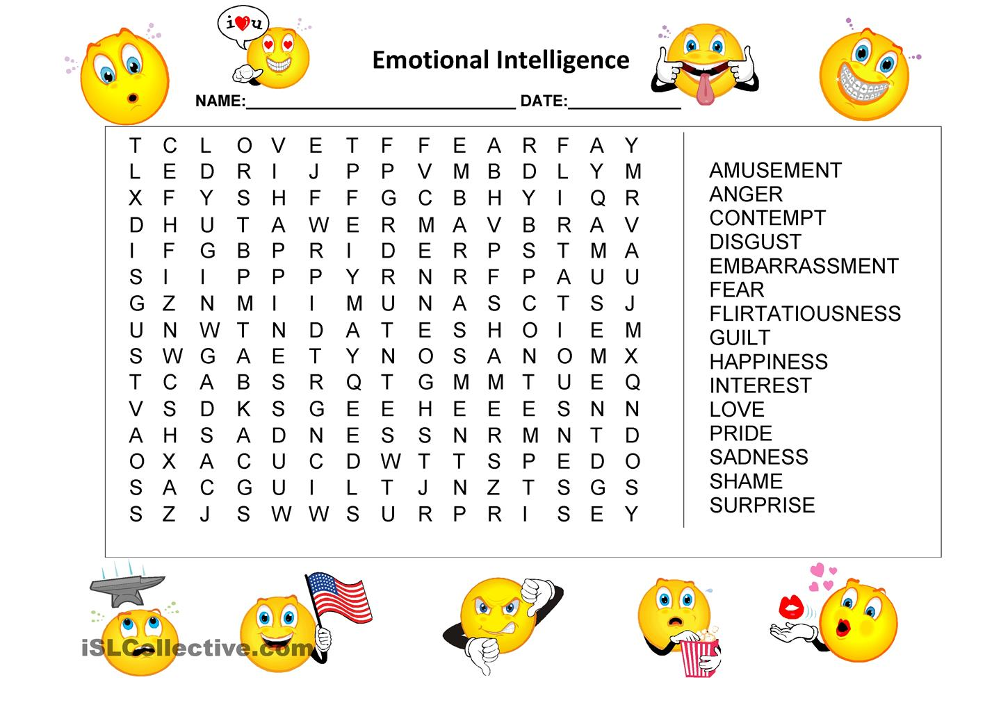 anger word search for kids