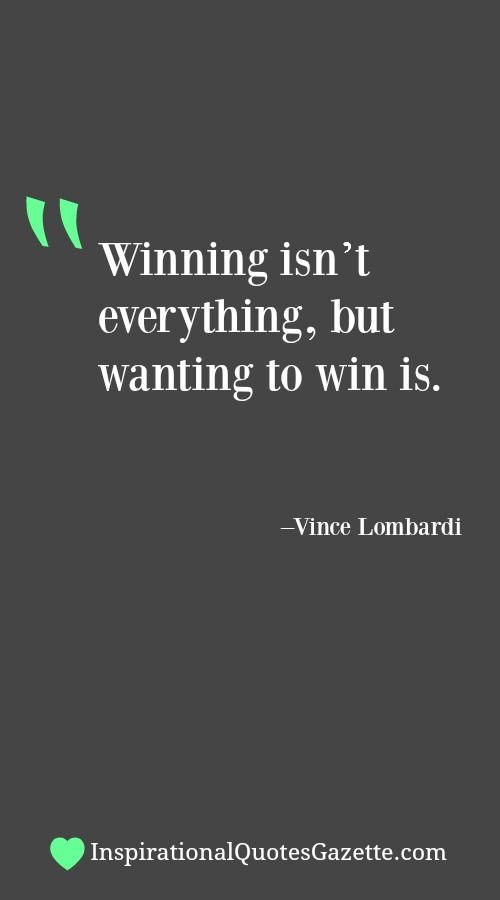winning isnt everything its the only Debate about 'in sports, winning is not everything' do you 'winning isn't everything it's the only thing' and 'the difference between a successful person and.