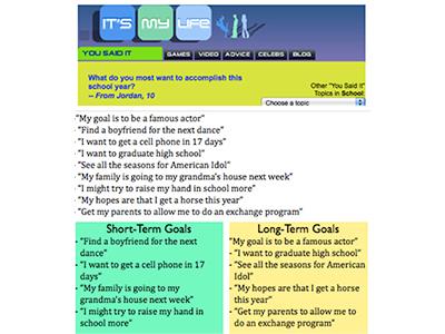 short and long term goals essay examples