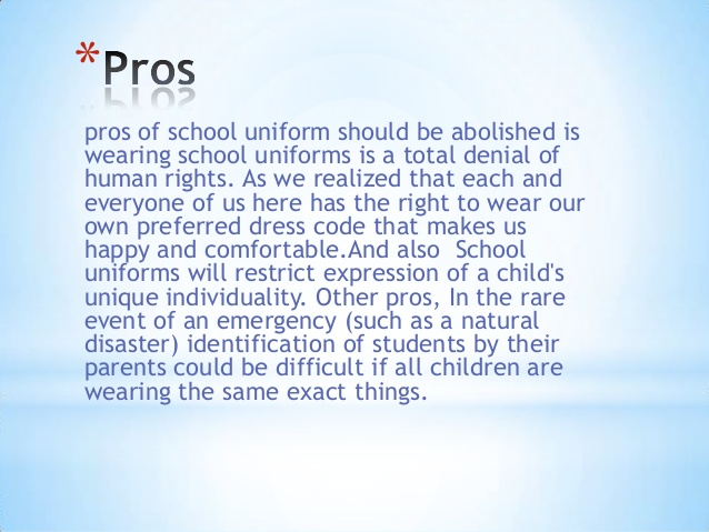 an essay on uniforms in public schools  irritating commercials for back-to-school clothing to reinforce the excellent idea  of requiring students to wear uniforms in our public schools.